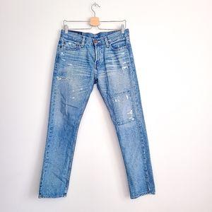 HOLLISTER Distressed Skinny Blue Jeans size 30